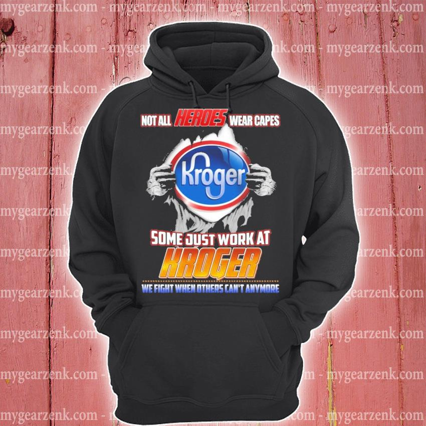 Blood Inside me not all Heroes wear capes some just work at Kroger hoodie