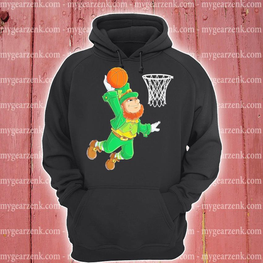 Leprechaun playing Basketball St Patrick's Day hoodie
