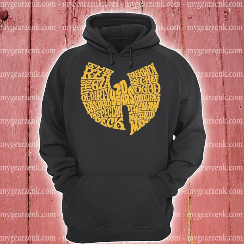 Wu Tang 20 years the rza gza ol dirty hoodie