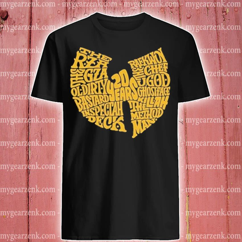 Wu Tang 20 years the rza gza ol dirty shirt