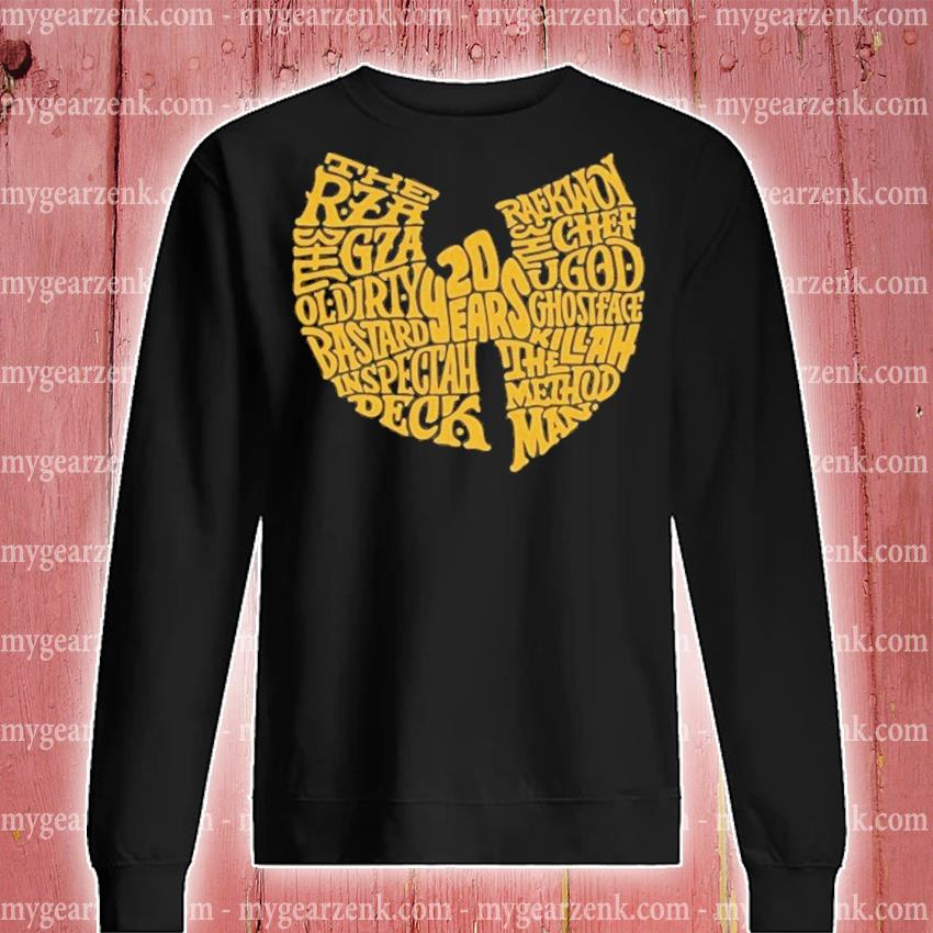 Wu Tang 20 years the rza gza ol dirty sweatshirt