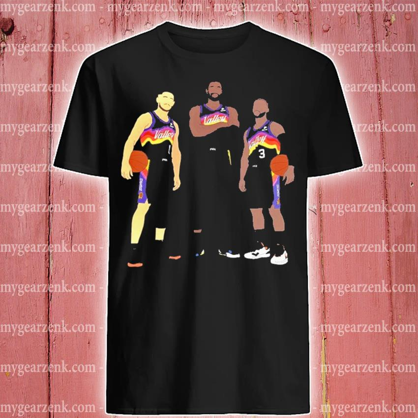 Devin booker chris paul deandre ayton fan art shirt