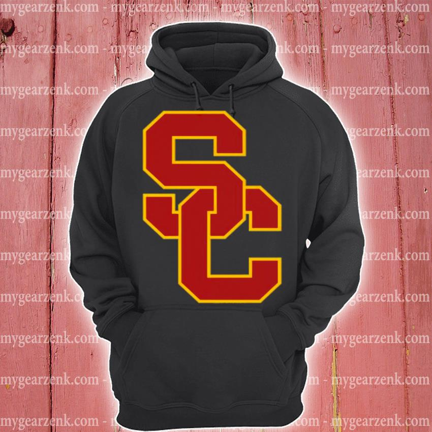 University of southern California ncaa usc lockup logo hoodie
