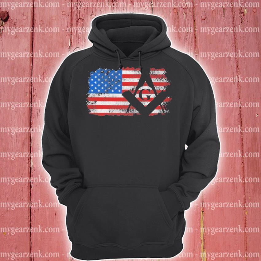 Vintage us masonic flag hoodie