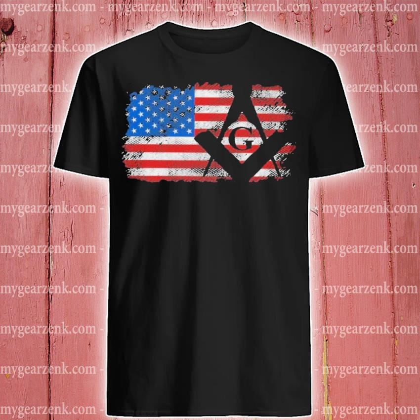 Vintage us masonic flag shirt