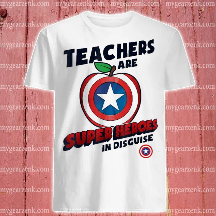 Captain America Apple teachers are superHeroes In disguise shirt