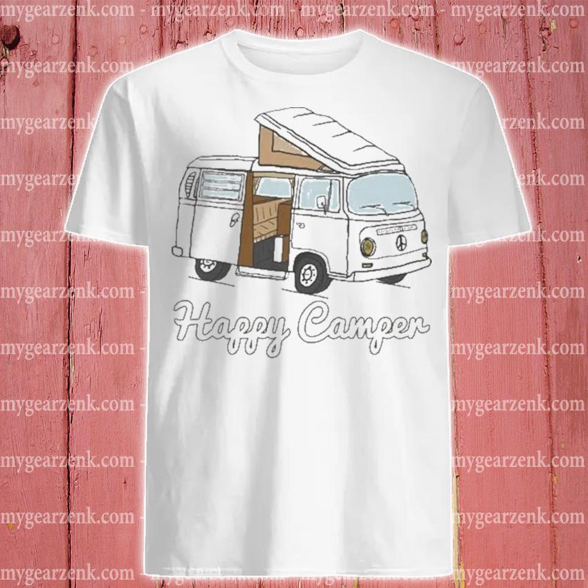 Felpa con cappuccio happy camper shirt