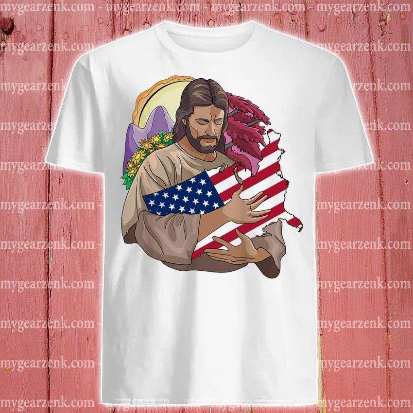 Jesus love hug Texas flag shirt