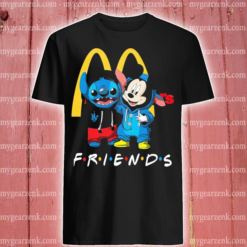 Mickey Mouse and Stitch peace Mcdonald friends shirt