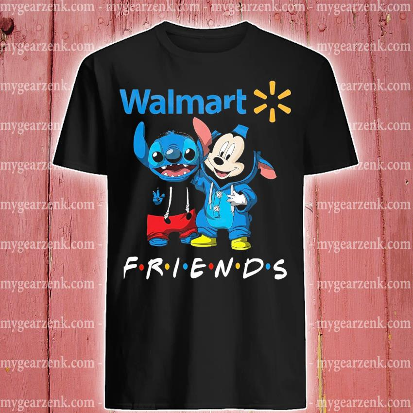 Mickey Mouse and Stitch peace Walmart friends shirt