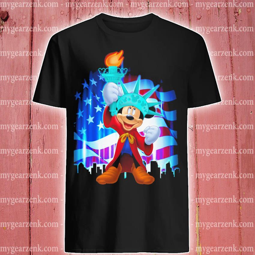 Mickey Mouse liberties and American flag shirt