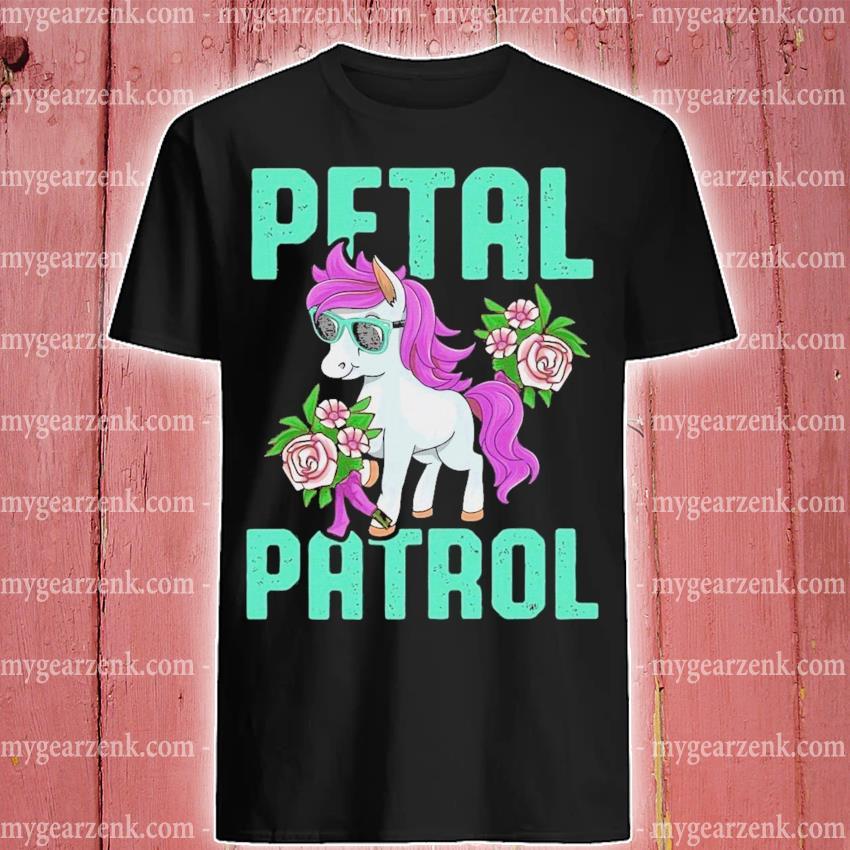 Pony sunglasses petal patrol unicorn shirt