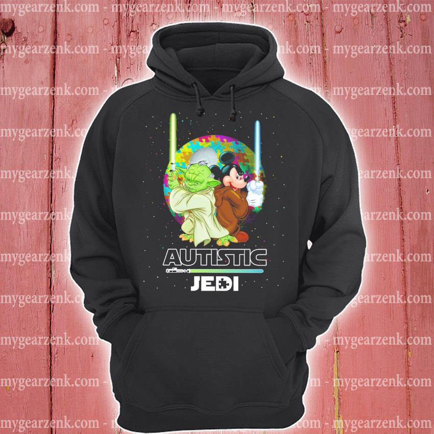 Star Wars Yoda and Mickey Mouse Autistic Jedi hoodie