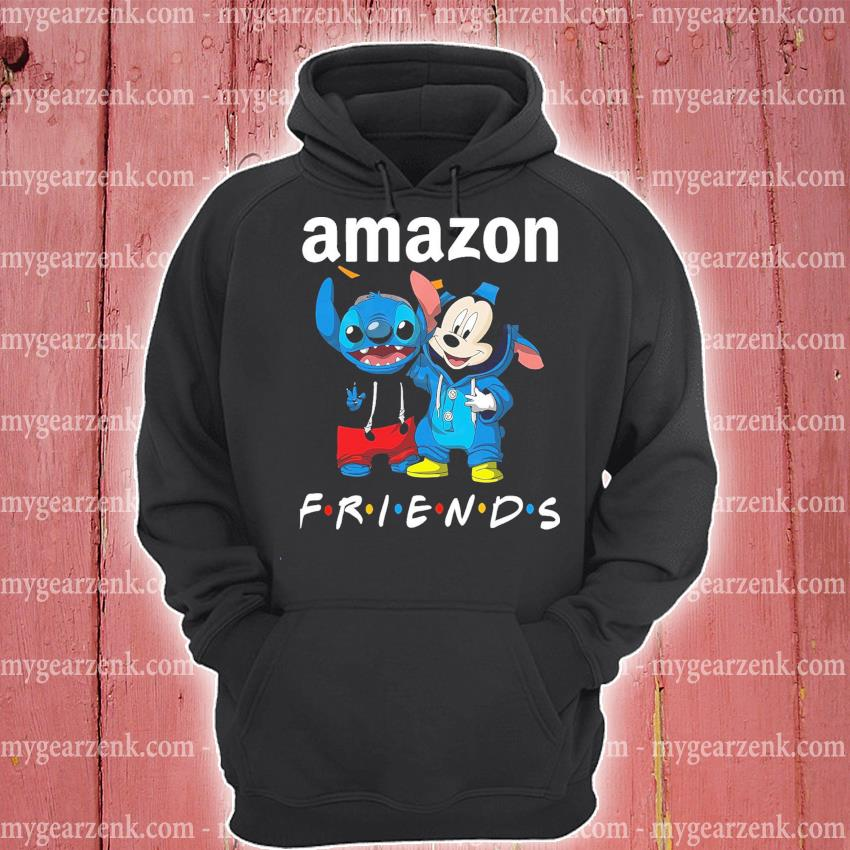 Stitch and Mickey Mouse friend Amazon hoodie