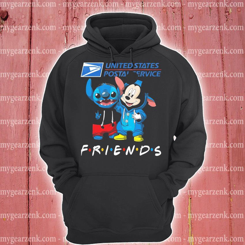 Stitch and Mickey Mouse friend United States Postal Service hoodie