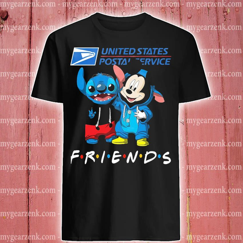 Stitch and Mickey Mouse friend United States Postal Service shirt