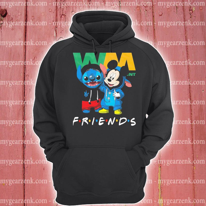 Stitch and Mickey Mouse friend Waste management hoodie