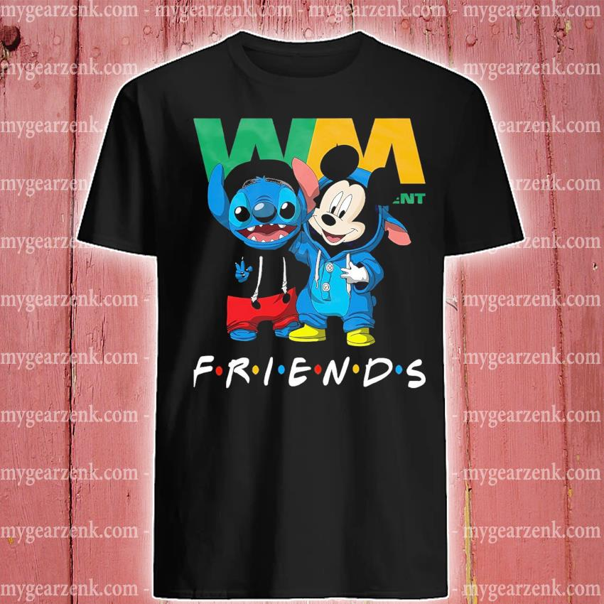 Stitch and Mickey Mouse friend Waste management shirt