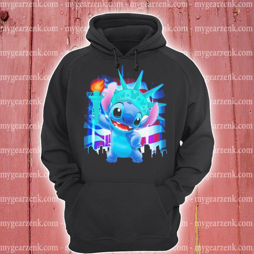 Stitch liberties and American flag hoodie
