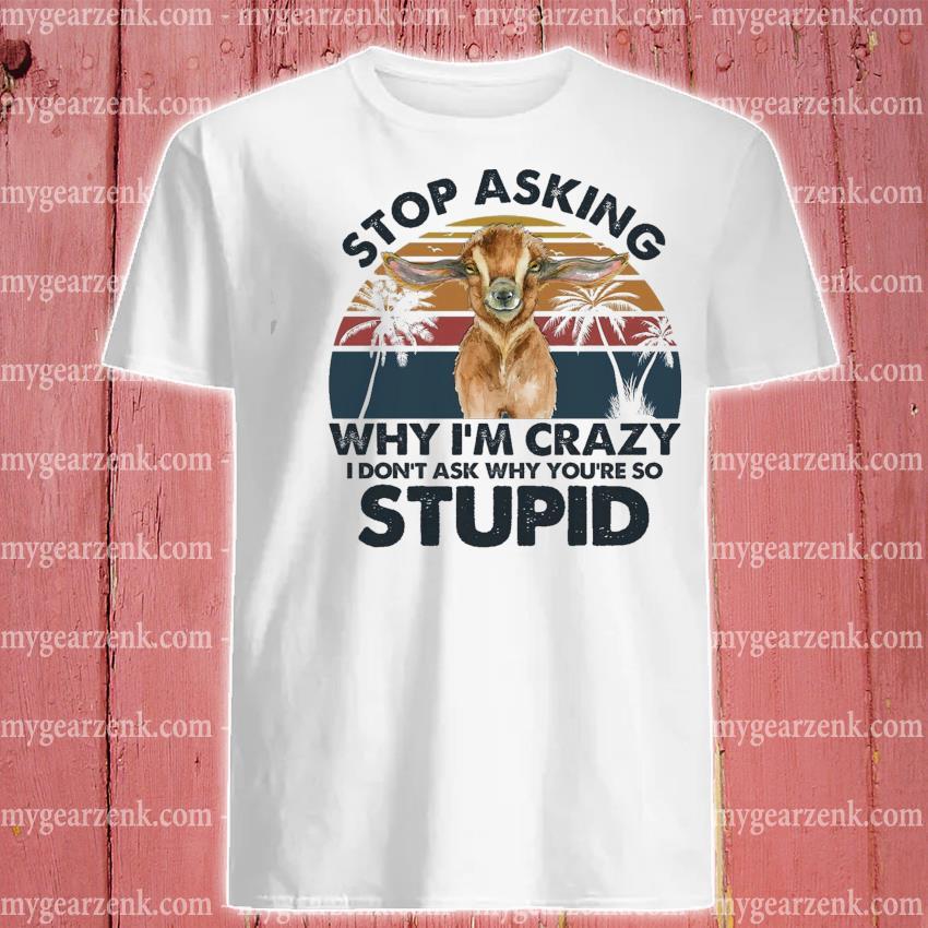 Stop asking why I'm crazy stupid vintage shirt