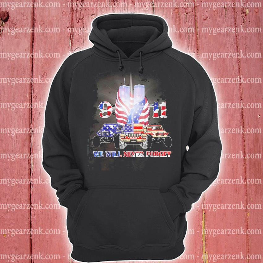 Official jeep 9 11 we will never forget american flag s hoodie