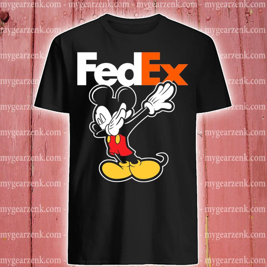 Official mickey mouse dabbing fedex shirt