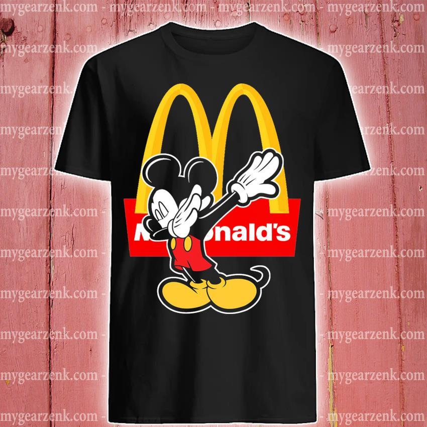 Official mickey mouse dabbing mcdonalds shirt