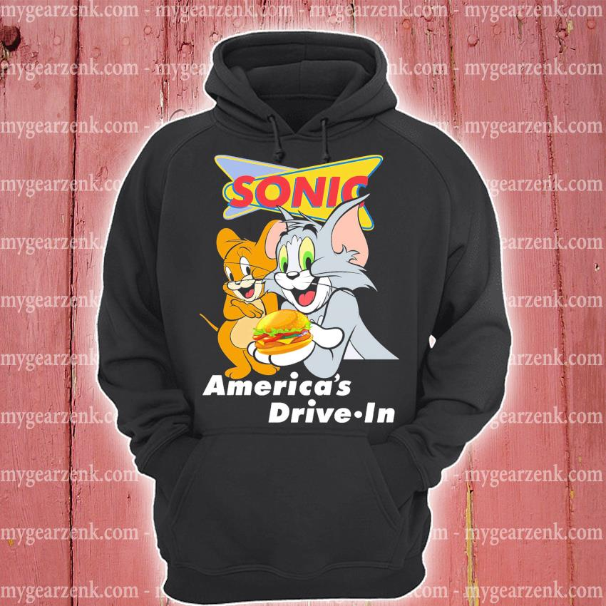 Official tom and jerry sonic america's drive in s hoodie