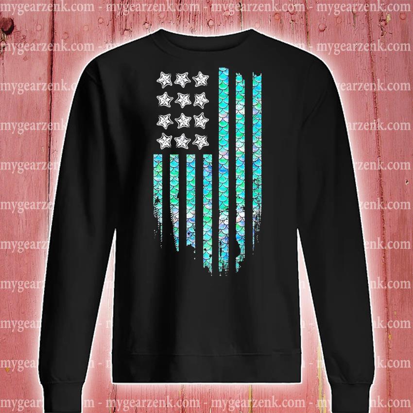 American flag Mermaid s sweatshirt