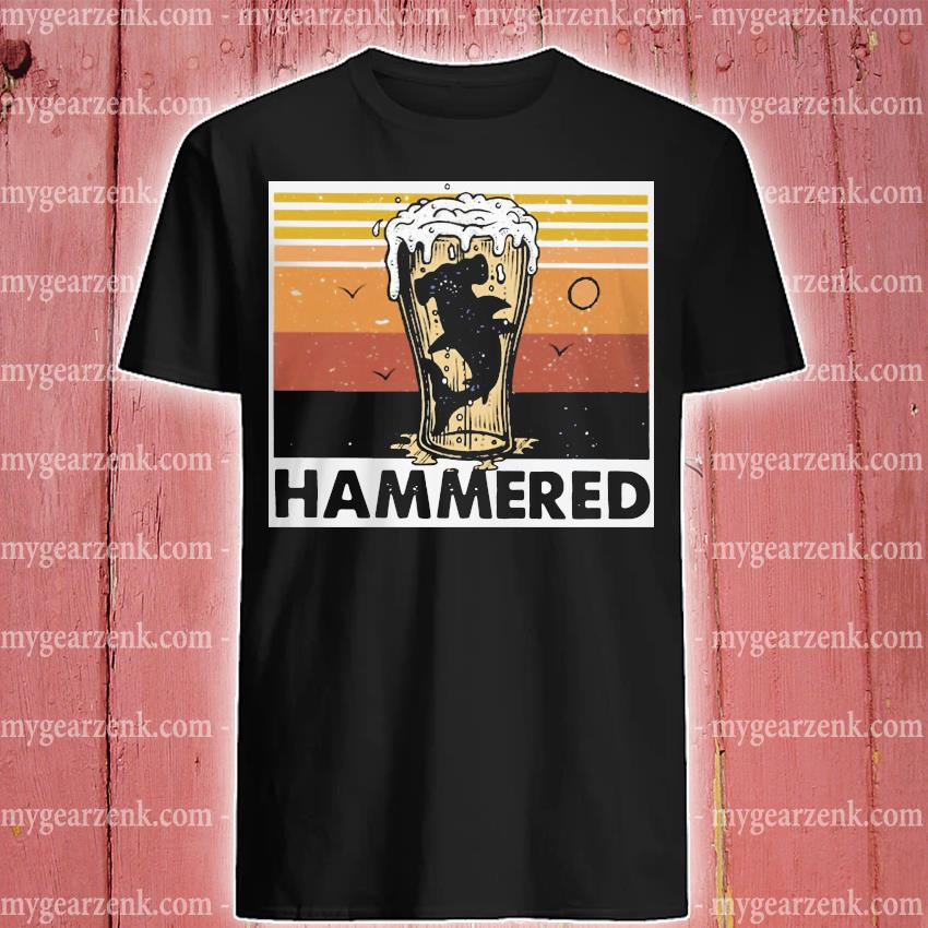Beer and Hammerhead sharks vintage shirt