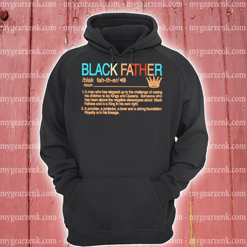Black Father Definition vintage s hoodie