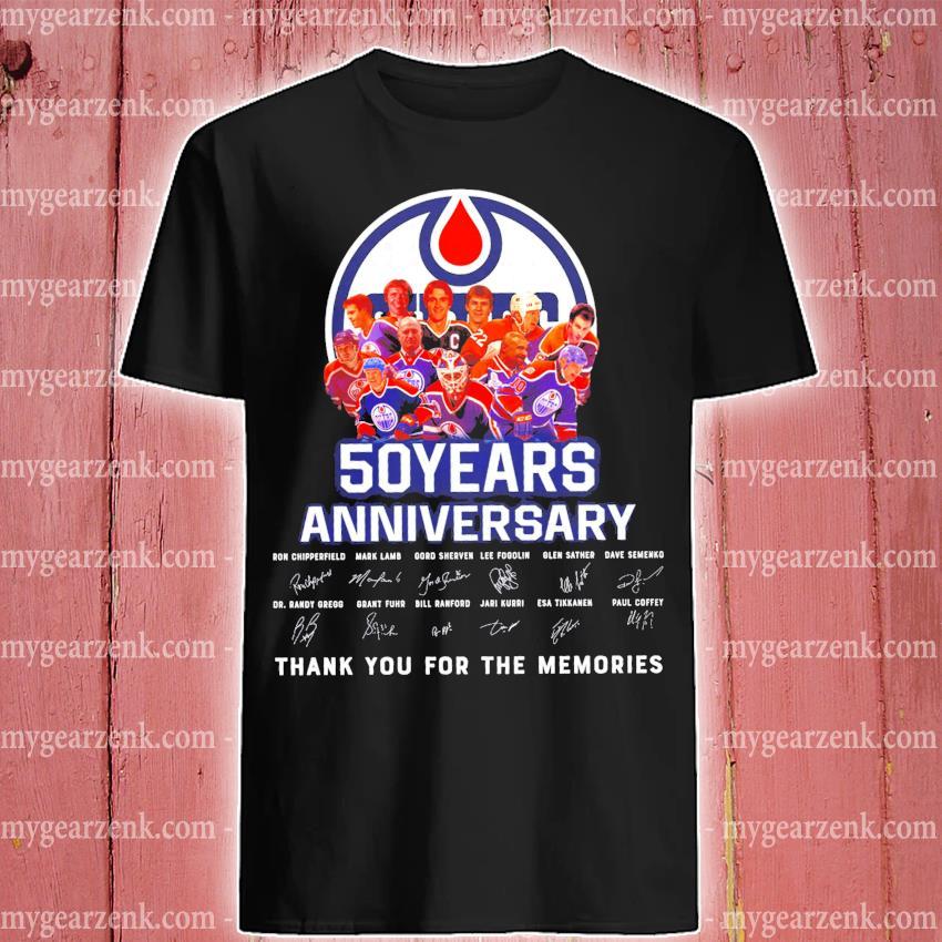 Edmonton oilers 50 years anniversary signature shirt