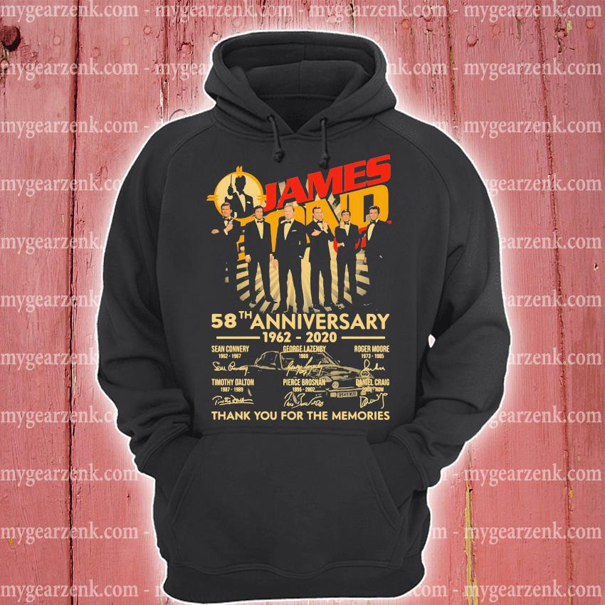 James Bond 007 58th Anniversary 1962 2020 Thank You For The Memories Signatures s hoodie