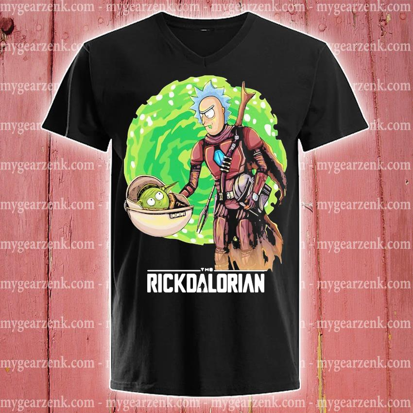 Rick And Morty The Rickdalorian Shirt v-neck-tee