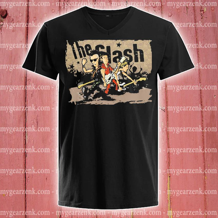 The Clash Band Cartoon s v-neck-tee