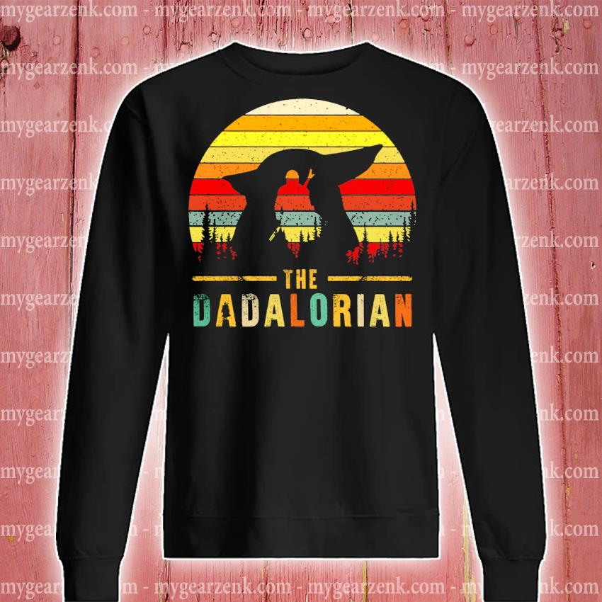 The Dadalorian Definition Father's Day vintage sunset s sweatshirt