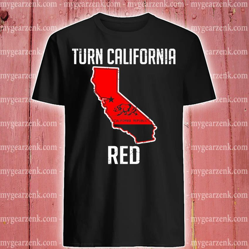 Turn California Red State Flag shirt
