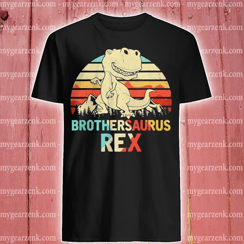 Brothersaurus Brother Dinosaur T Rex Toddler//Youth Fleece Hoodie