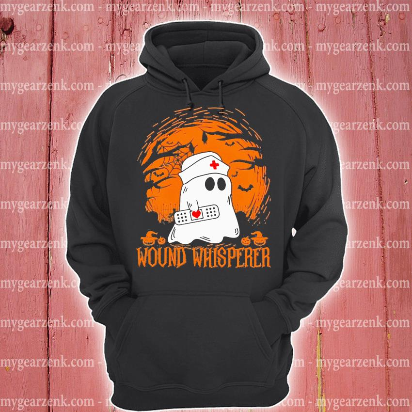 Boo ghost Nurse wound whisperer Halloween s hoodie