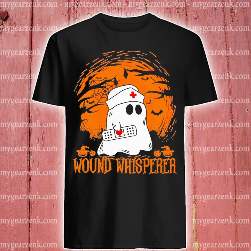 Boo ghost Nurse wound whisperer Halloween shirt