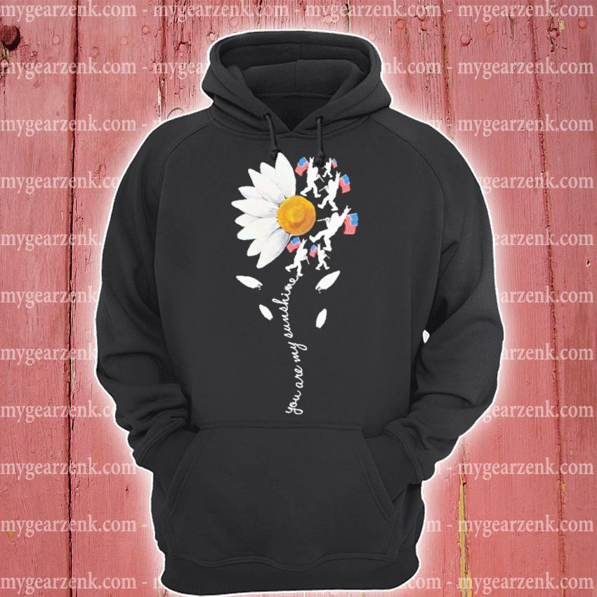 Bigfoot Sunflower you are my sunshine American flag s hoodie