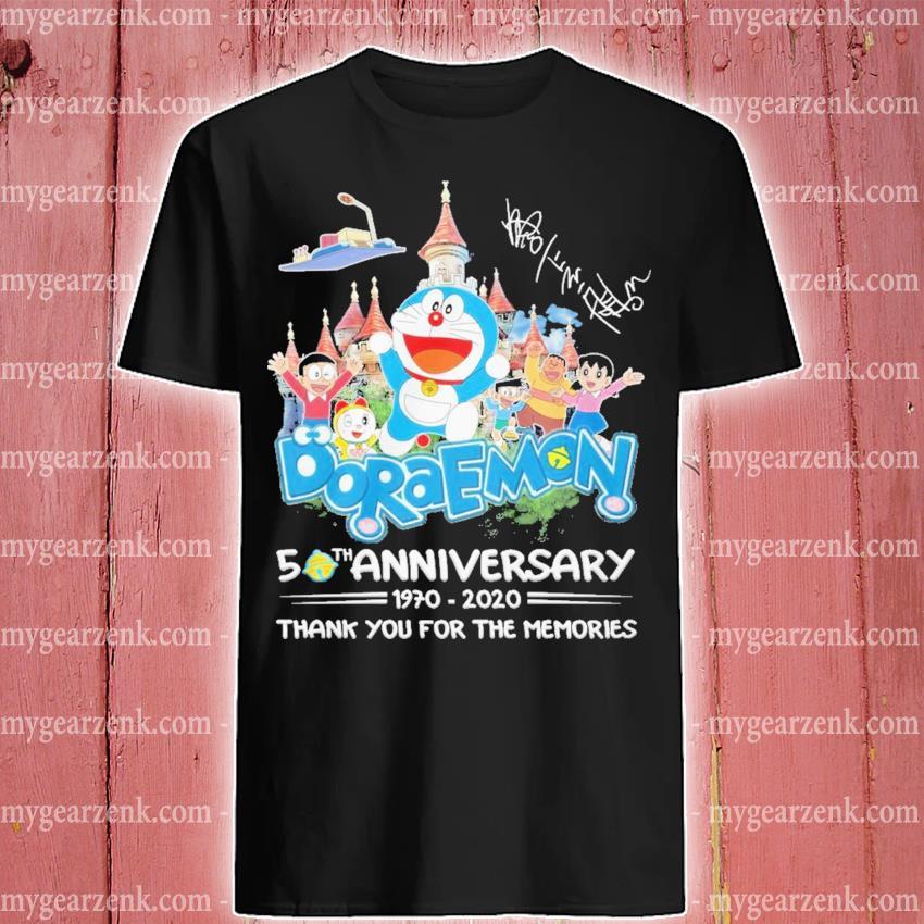 Doraemon 50th anniversary 1970 2020 thank you for the memories shirt