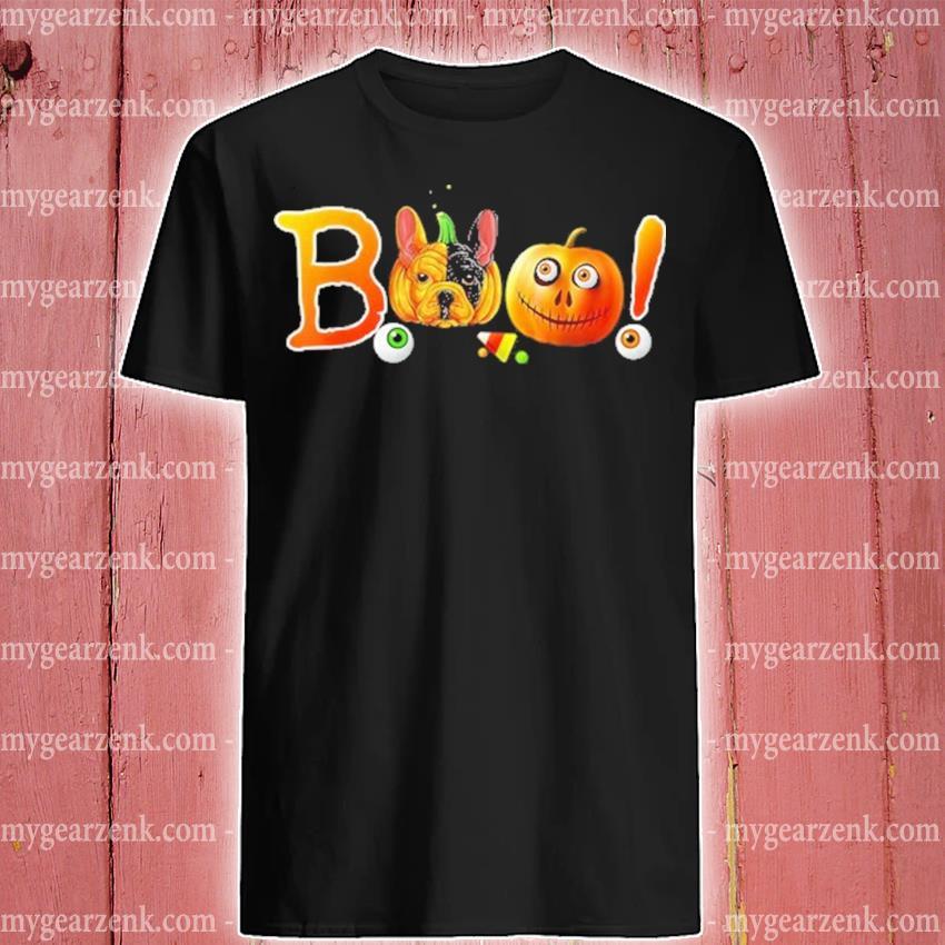 French Bulldog Boo Halloween pumpkin shirt
