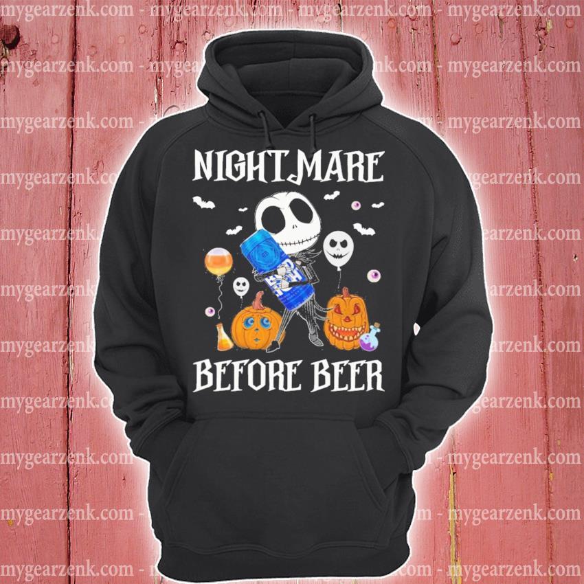 Halloween pumpkin Jack Skellington hug Bud Light nightmare before Beer s hoodie