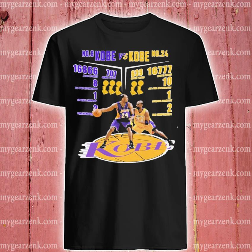No 8 Kobe Vs No 24 Kobe Kobe Bryant Larger Imprint shirt