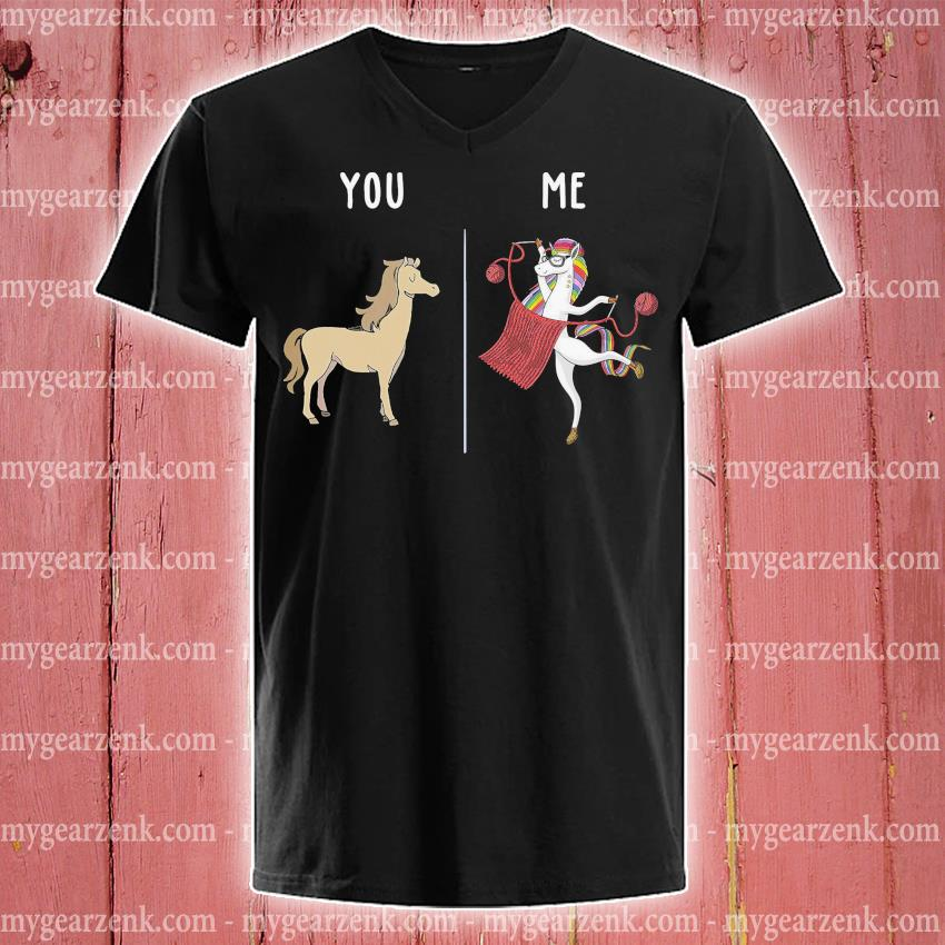 Horse and Unicorn you and me s v-neck-tee