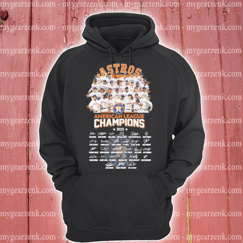 Official Houston Astros American league Champions 2020 signatures s hoodie