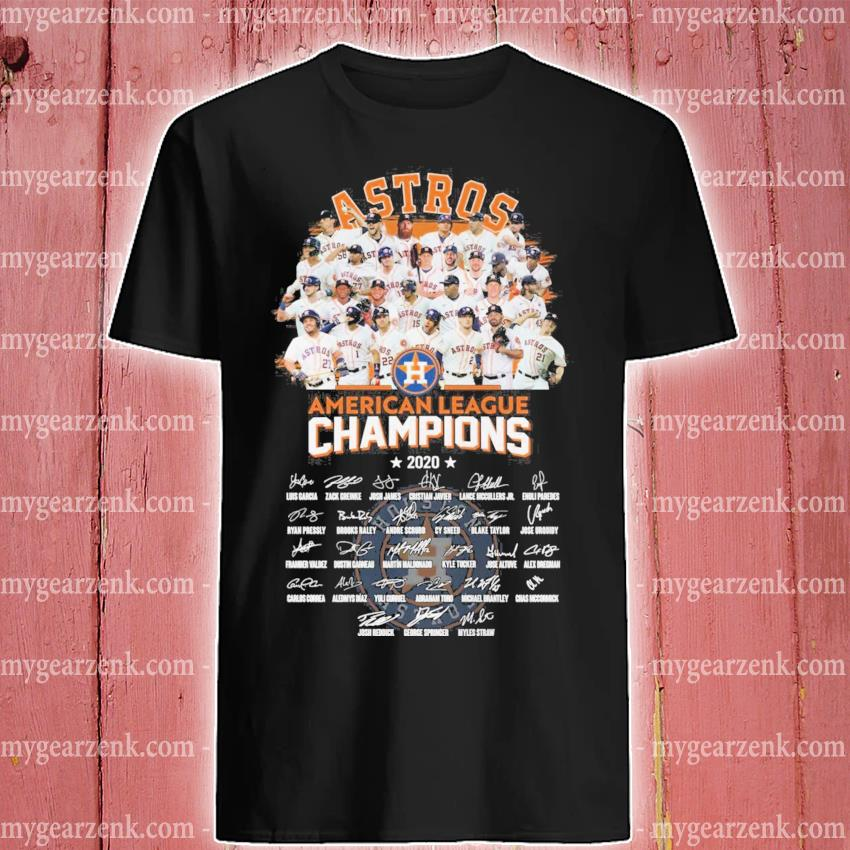 Official Houston Astros American league Champions 2020 signatures shirt
