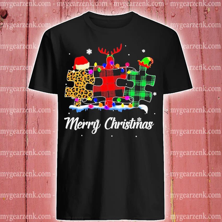 Autism Santa Happy Merry Christmas 2020 shirt