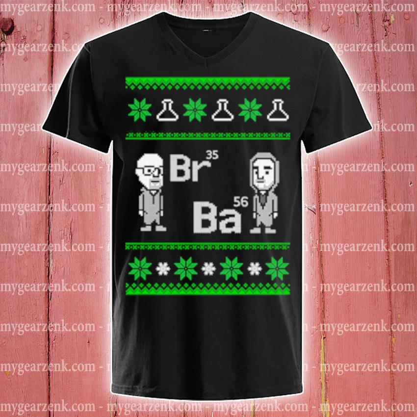 Breaking Bad Br35 Ba56 Ugly Christmas sweater v-neck-tee